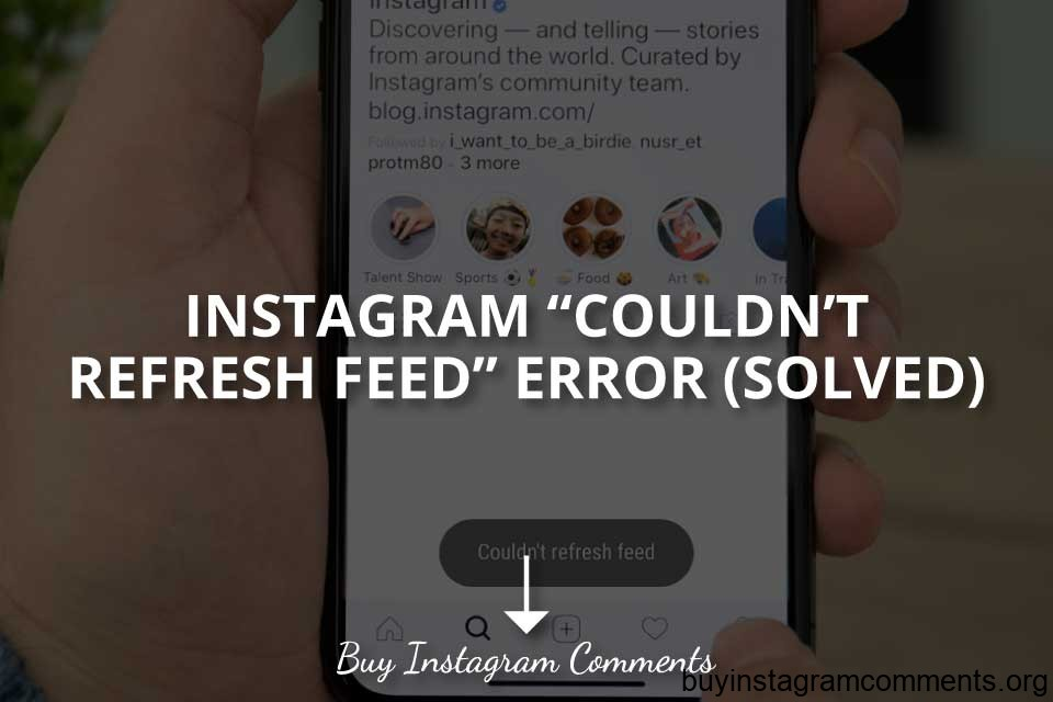 Instagram Couldn't Refresh Feed Error