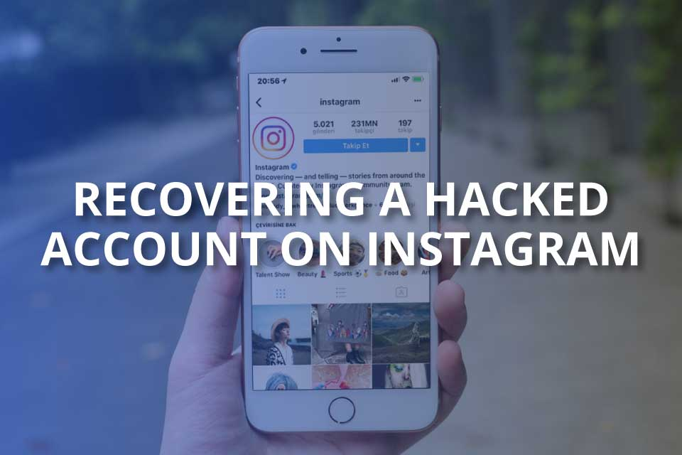 Recovering a hacked account on instagram
